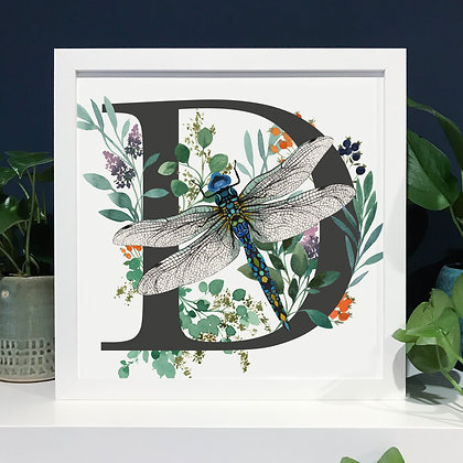 D for Dragonfly Fine Art Print