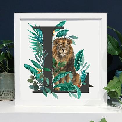 L for Lion Fine Art Print