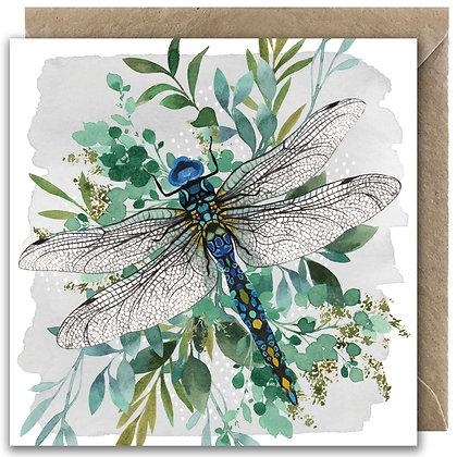 Botanical Dragonfly Greeting Card