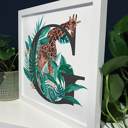 G for Giraffe Fine Art Print