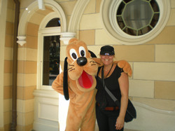 Kathryn hangin' with Pluto.