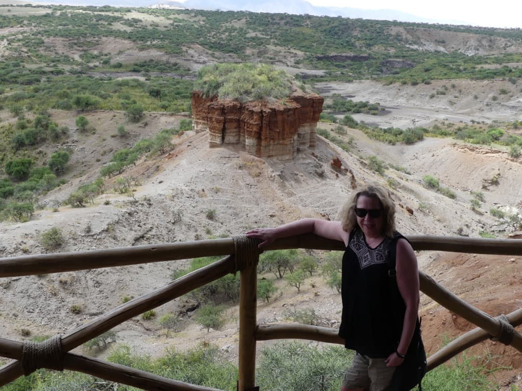 Rhonda at Olduvai Gorge in Tanzania