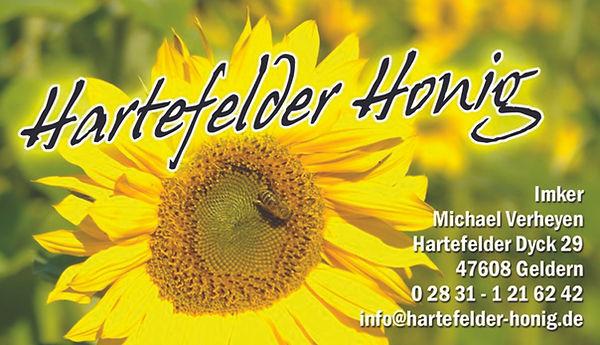 Visitenkarte Hartefelder Honig 2015 gedr
