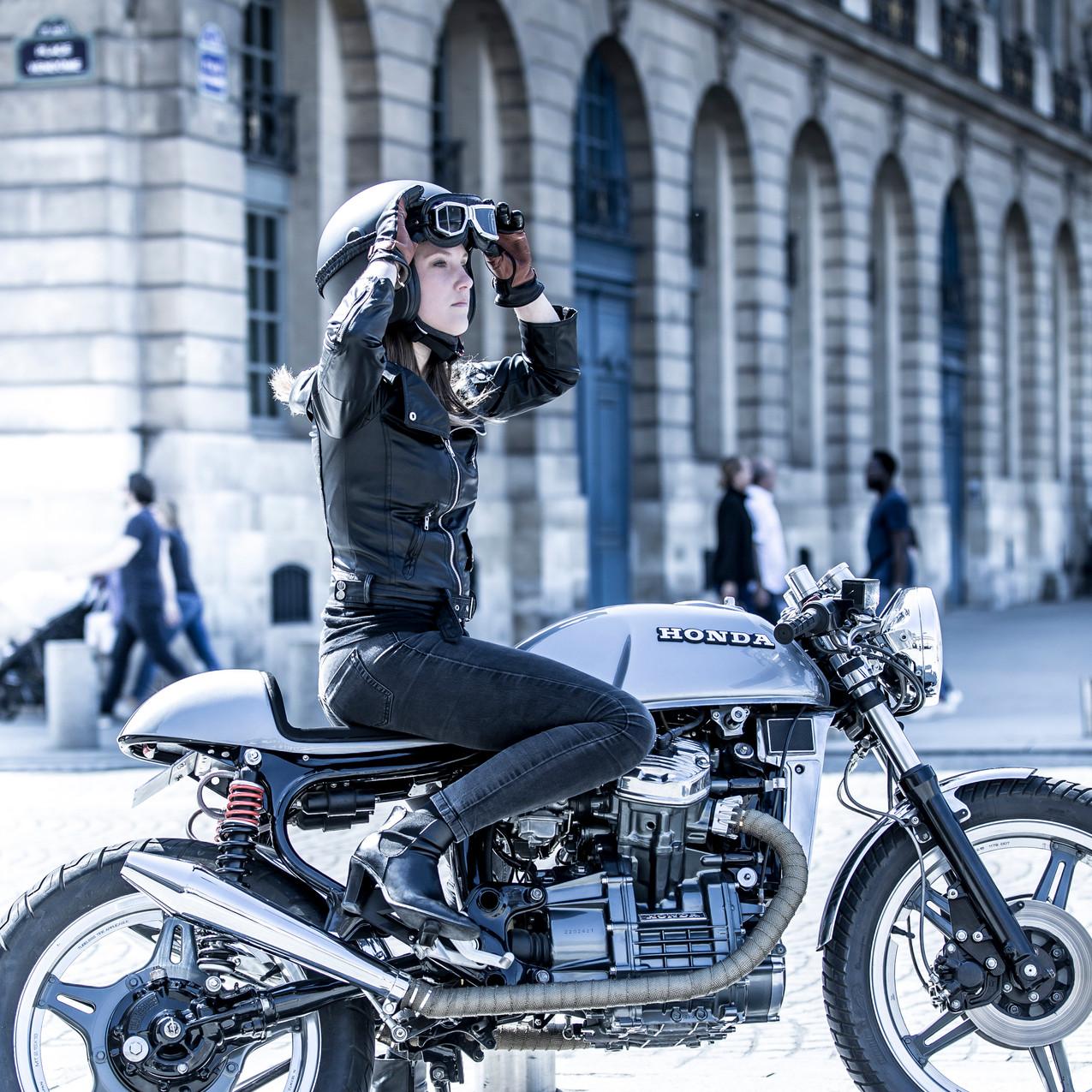 vintage moto cx500 femme