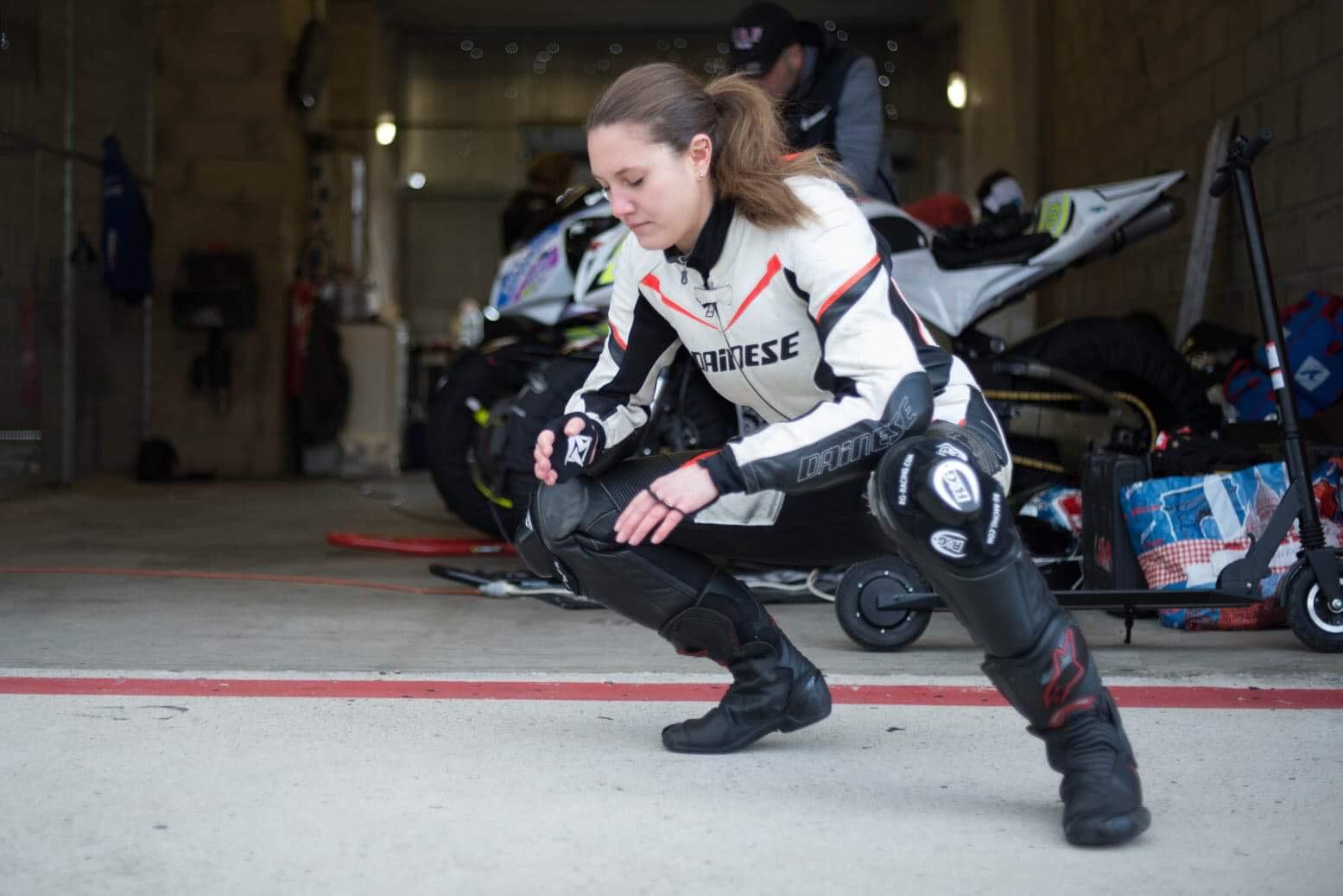 echauffement circuit moto