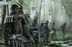 Samurais in the wood