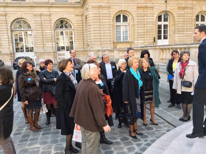 Visite du Sénat avec l'association des conseillères et conseillers municipaux du Rhône