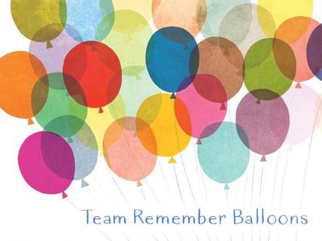 Team Remember Balloons