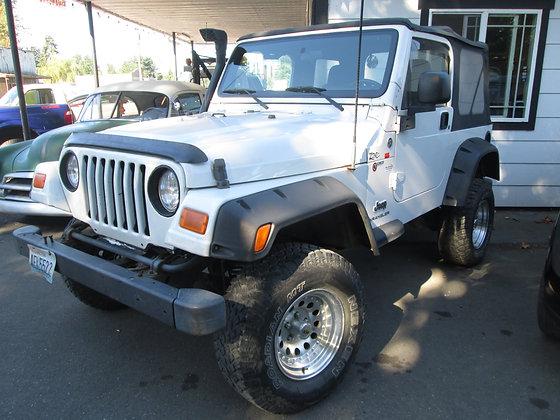 2005 Jeep Wrangler $8900.