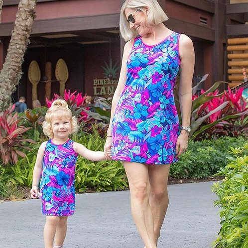 Mommy & Me Solid Adult Tank Dress
