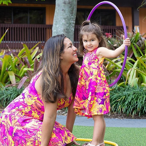 Mommy & Me Solid Adult Swirl Dress