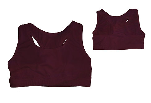 Solid Racerback Sports Bra