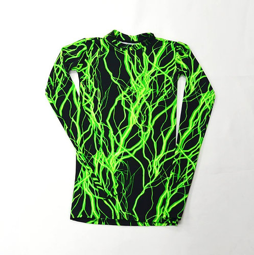 Print Long Sleeve Compression Shirt