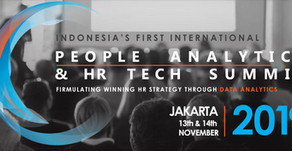 People Analytics & HR Tech Summit is coming to Jakarta - 13th and 14th Nov 2019