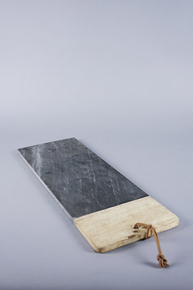 MARBLE + WOOD TRAY