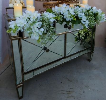 GOLD MIRRORED DRAWER TABLE