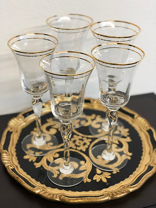 Gold Rimed Goblets | Medium