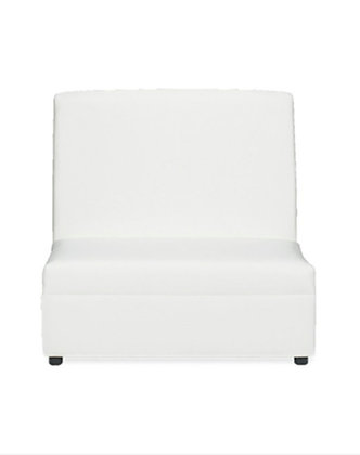 WHITE ARMLESS SOPHISTICATED  LOVESEAT