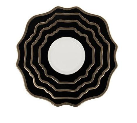 TRIESTE DINNERWARE BLACK/GOLD