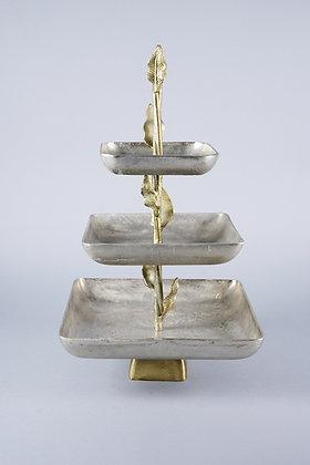 ANTIQUE GOLD LEAF | 3 TIER STAND
