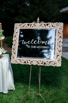 MIRRORED WELCOME FRAME