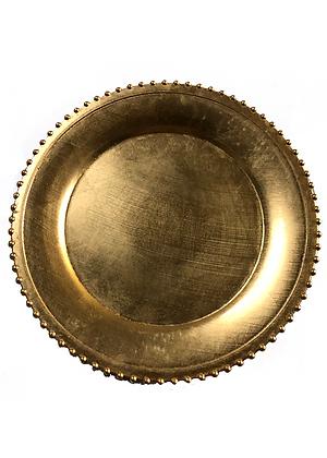 METALLIC BEADED EDGE | ACRYLIC GOLD