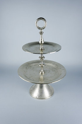 ANTIQUE SILVER | 2 TIER STAND