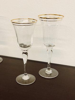 Gold Rimed Goblets | Large