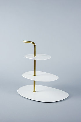 WHITE + GOLD | 3 TIER STAND