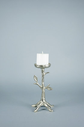 SILVER LEAF | CANDLE HOLDER