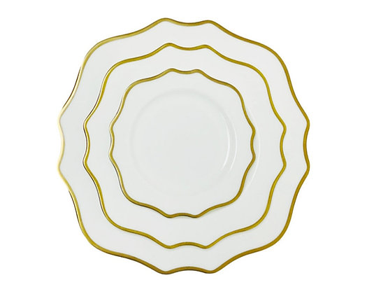 TRIESTE DINNERWARE WHITE/GOLD