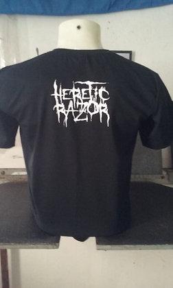 Camiseta do Heretic Razor - Preto Básico - Todos os tamanhos