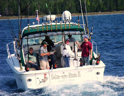 Salm-Eye-Emm sport fishing charter on the Straits of Mackinac.