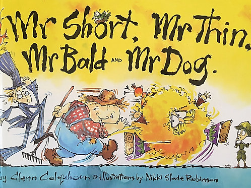 Mr Short, Mr Thin, Mr Bald and Mr Dog