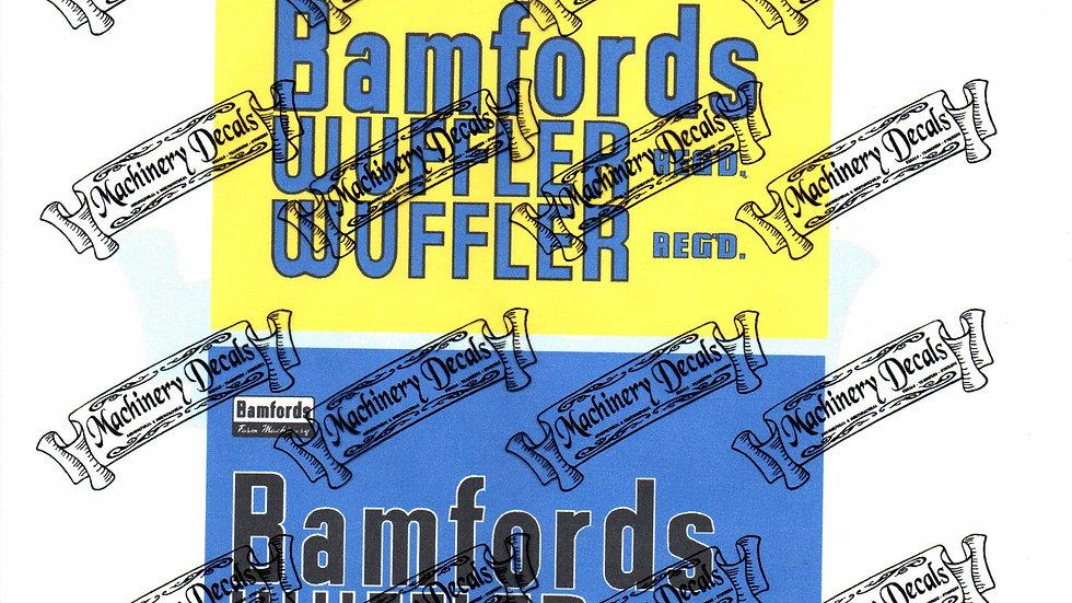 BAMFORD WUFFLER DECALS SET
