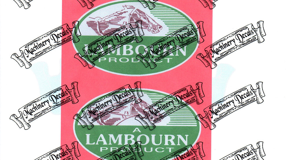 LAMBOURN CAB DECALS OVAL PAIR