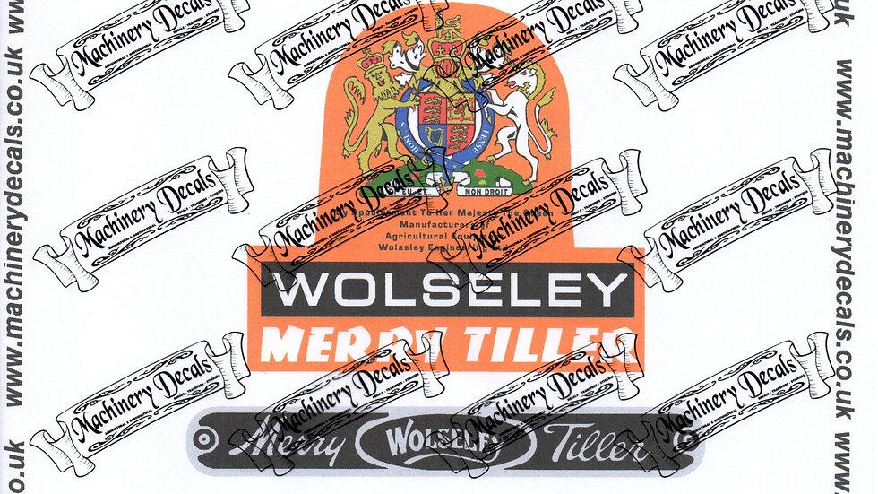 MERRY TILLER/WOLSELEY DECALS