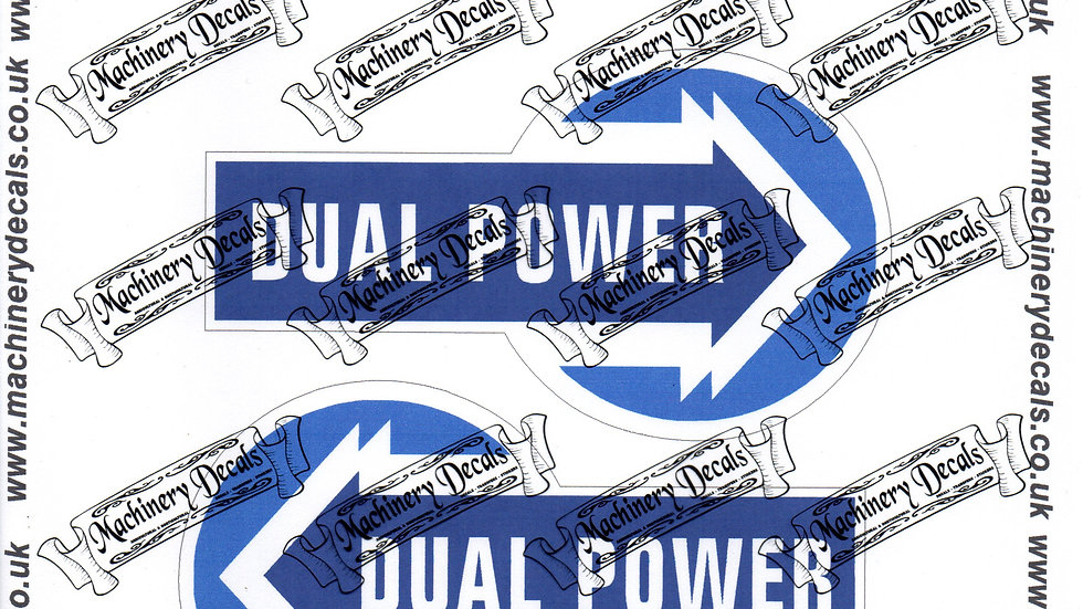 DUAL POWER TRACTOR DECALS