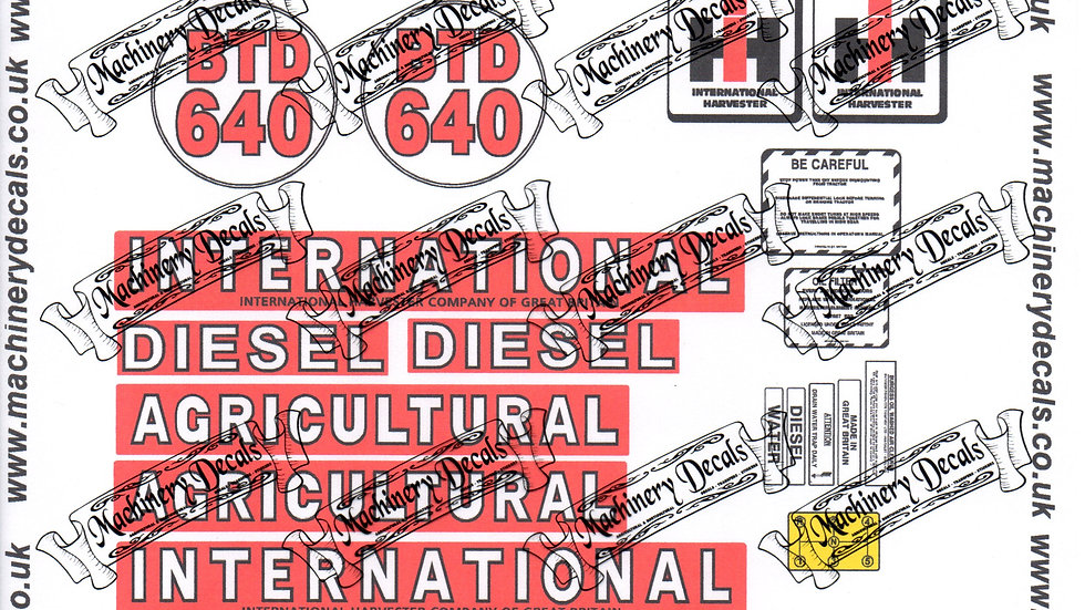 INTERNATIONAL TD CRAWLER DECALS