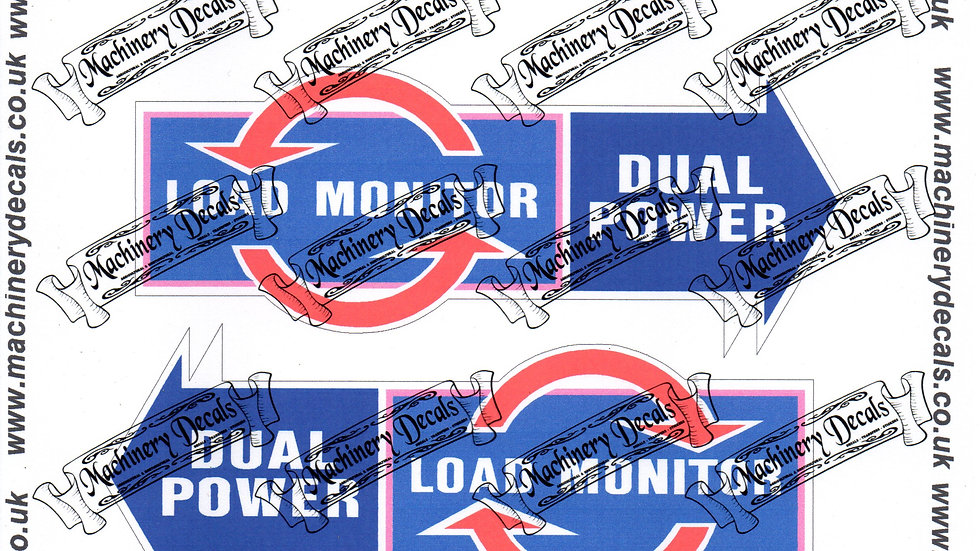 LOAD MONITOR-DUAL POWER TRACTOR DECALS