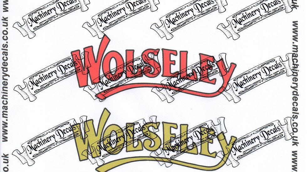 WOLSELEY DECALS