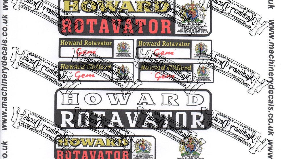 HOWARD GEM MK5 ROTAVATOR DECALS
