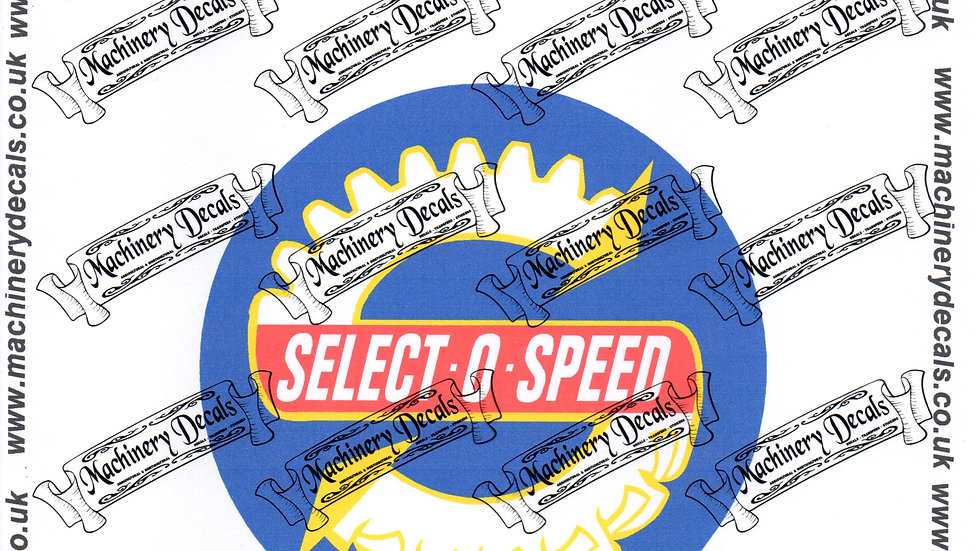 SELECTOSPEED TRACTOR DECALS