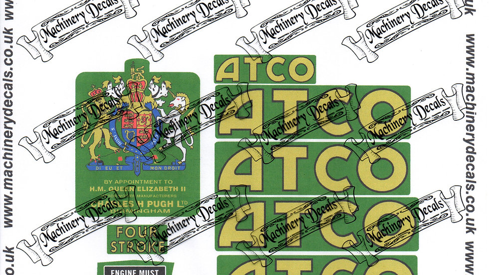 ATCO 1765 MOWER DECALS