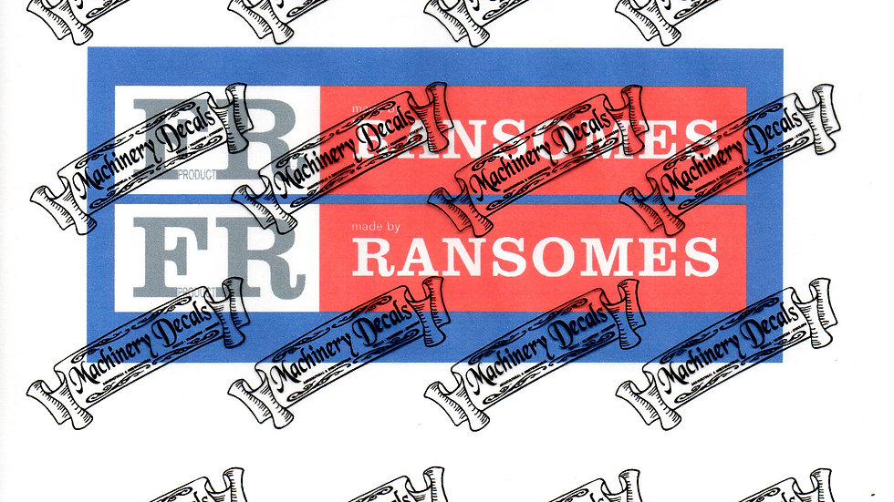 FR:RANSOMES PLOUGH DECALS