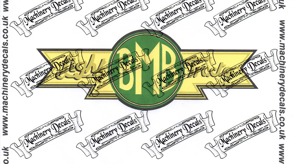 BMB PLOWMATE AND CULTMATE DECALS SET