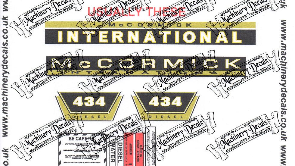 McCORMICK INTERNATIONAL 434 TRACTOR DECALS