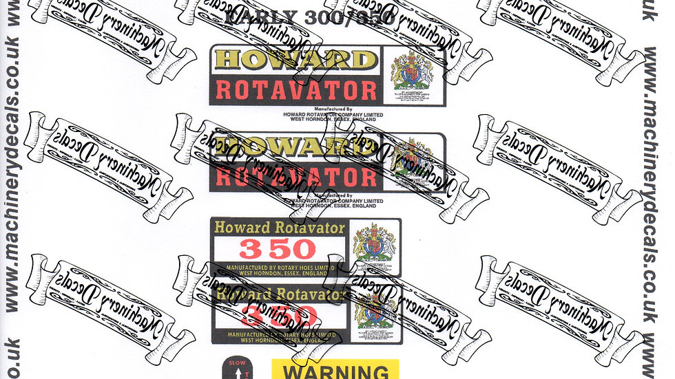 HOWARD 300 and/or 350 decals (early)