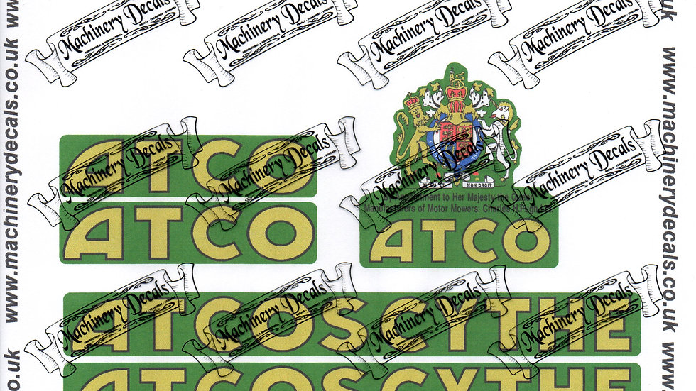 ATCO ATCOSCYTHE DECALS