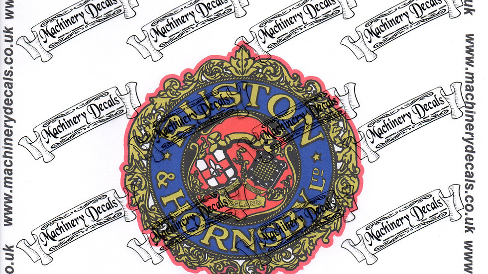 """RUSTON AND HORNSBY Decals 4"""""""